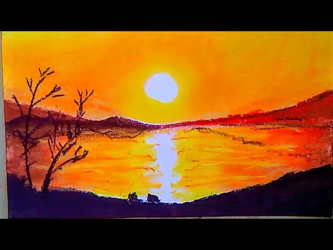Easy soft pastel painting scenery