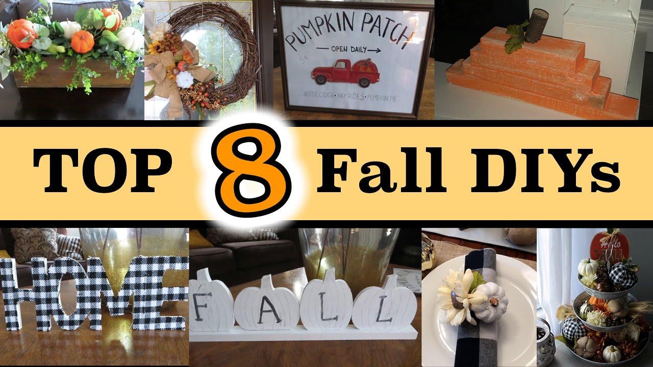 Eight Fall DIYs for Home Decor | Budget Friendly DIYs