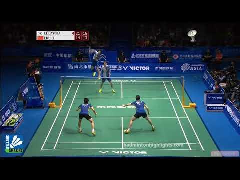 Lee Yong Dae/ Yoo Yeon Seong vs Li Junhui/ Liu Yuchen   Final BAC 2016   Shuttle Amazing