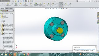solidworks tutorial | flange coupling | part drawing