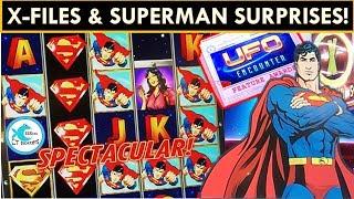 ★★BIGGEST X-FILES SLOT WIN ON YOUTUBE!★★ Plus Superman & NEW STAR TREK SLOT MACHINES!