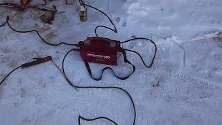 Форсаж 180 VS Мороз.(Сварочный инвертор Форсаж 180 мороза не боится, так -как сделан в России. ! Не боится просадки по напряжению,..., 2015-01-10T08:25:16.000Z)