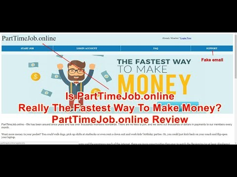 Is PartTimeJob.online Really The Fastest Way To Make Money?  PartTimeJob.online Review