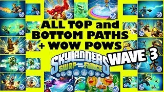 Skylanders Swap Force: 12 Wave 3 Top & Bottom Swapper Paths + 4 Series 2/3 Wow Pows (7 Characters)
