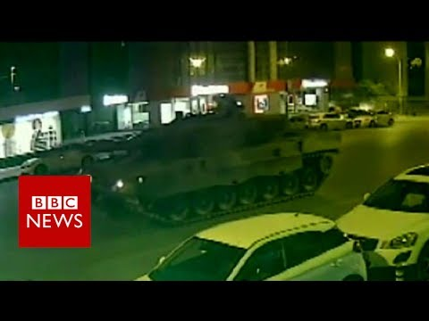 Turkey coup: Man speaks after being run over by tank twice - BBC News