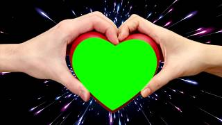 Top Heart On Green Screen  Heart amp; Hands Activity  Buy Backdrop  ACD FOOTAGE 4K 2018
