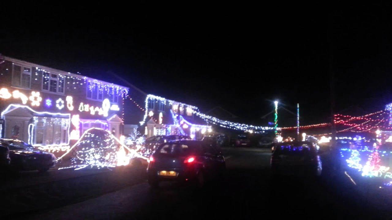 Christmas street lights Twinpike way York UK 2015. & Christmas street lights Twinpike way York UK 2015. - YouTube azcodes.com