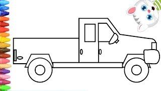 Как нарисовать грузовая машина с MiMi | Раскраски детей HD | Рисование и окраска