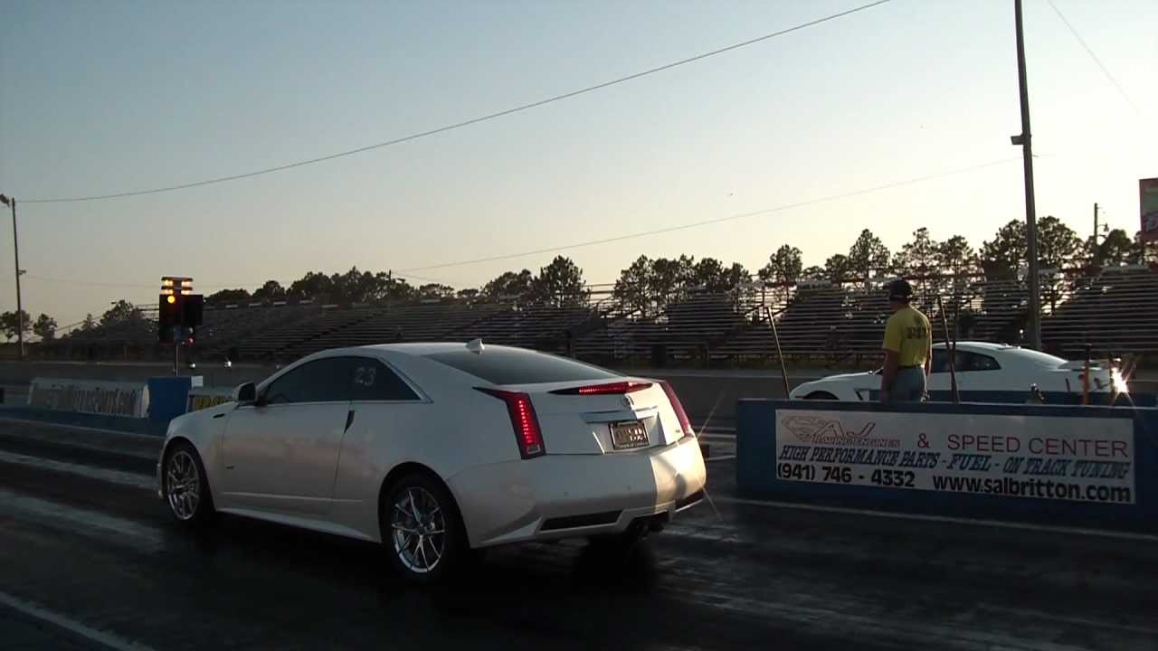 Nissan Gtr Cadillac Cts V Coupe Quarter Mile Youtube