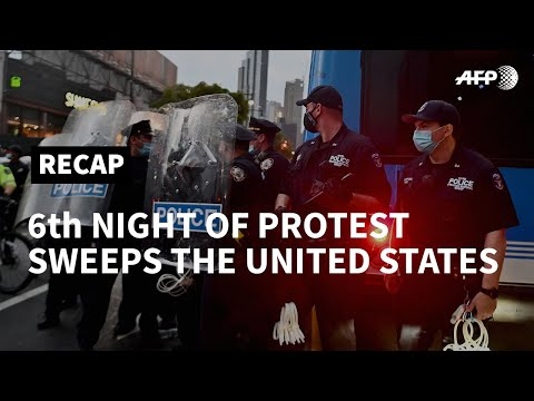Protests Sweep Across United States For Sixth Consecutive Night | AFP