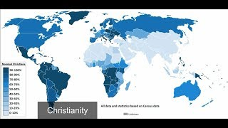 The Largest Religions by Maps