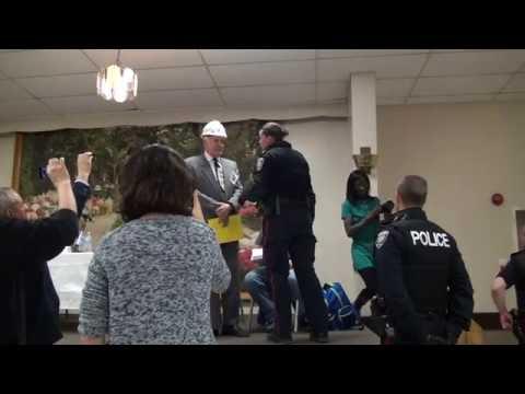 Police Remove John Turmel from Ottawa-Vanier Candidates Debate-2016