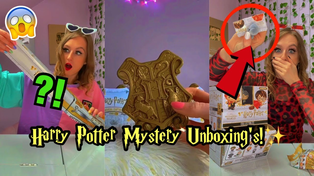 Harry Potter Mystery Unboxing ASMR Compilation!😍⚡️*Mystery Wands, Fidgets, Gold Capsules + MORE!!✨