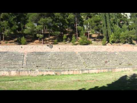 Stadium for the Pythian Games in Delphi, Greece
