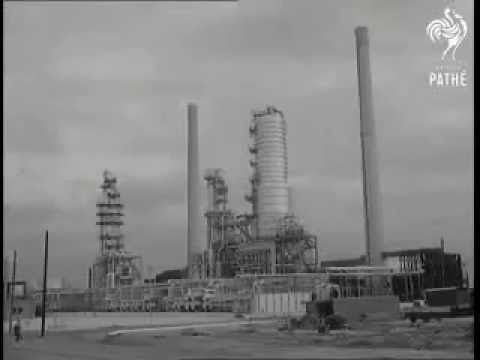 The re-opening and extension of  Fawley Oil Refinery near Southampton in 1951