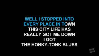 Honky Tonk Blues in the style of Hank Williams karaoke video