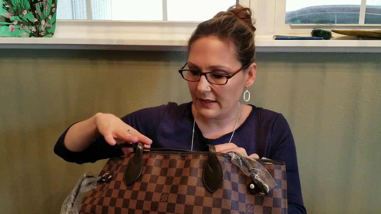 LV Damier Ebene Neverfull MM Aliexpress Replica unboxing and first impressions review.