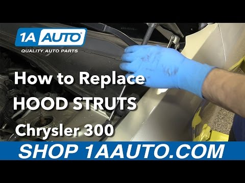 How to Replace Install Hood Struts 2006 Chrysler 300 Buy Quality Parts from 1AAuto.com