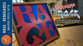 Rage against the Machine Wooden Album Art | Makers Rock 2018
