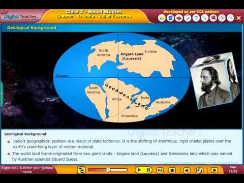 SSC Class10 Social U1 India   Relief Features DIGITAL TEACHER K12 CONTENT ANIMATIONS PRESENTATION