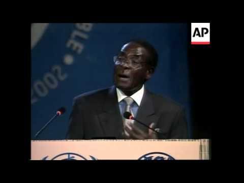 Edit of Zimbabwe's president addresses Earth Summit