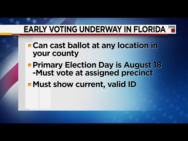 Early Voting Underway for Florida Primary