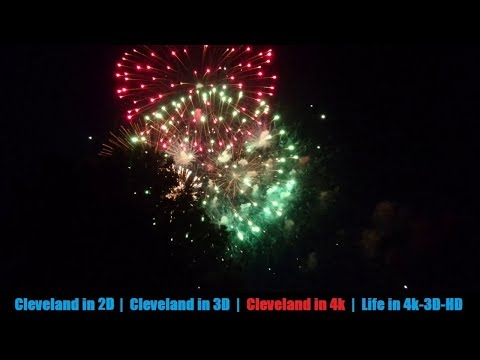 July Fireworks at Blossom Music Center in 4k