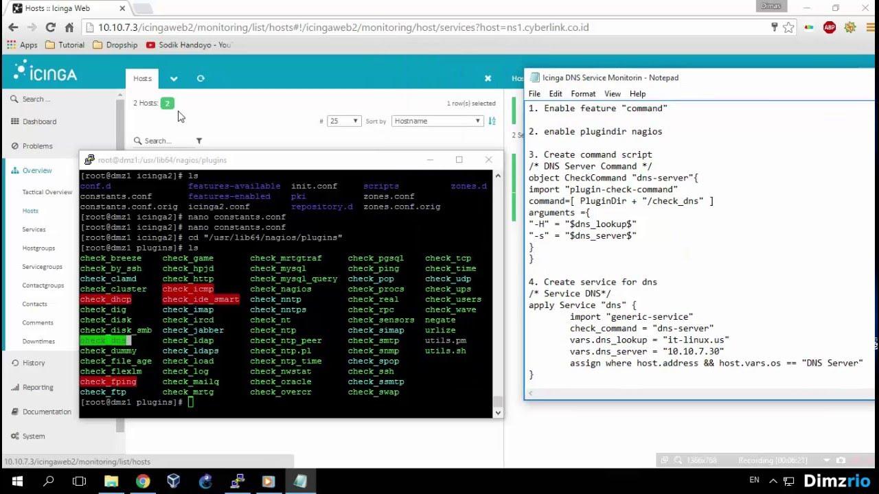 [Lab 23] Monitoring DNS Server on Icinga Web2 - Icinga2 Tutorial