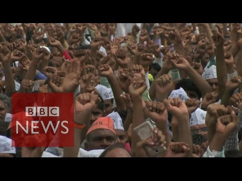 Patel protest leader: We will use violence 'if need be' - BBC News