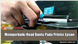 Cara memperbaiki head buntu pada printer epson, printer buntu