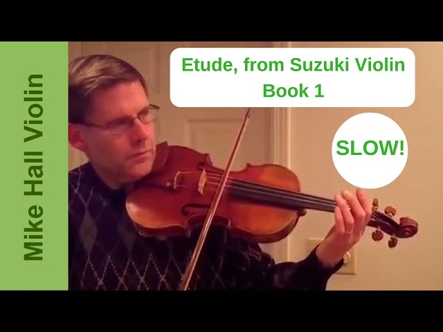 Etude - #12 from Suzuki Violin Book 1, a slow play - along