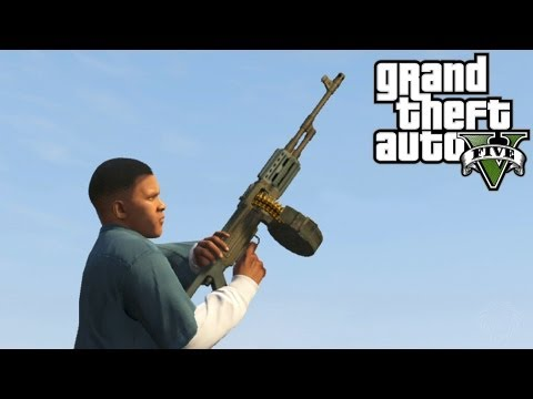 GTA 5: MG Location + Shooting Rampage Gameplay! Where To Find The Machine Gun (Grand Theft Auto V)