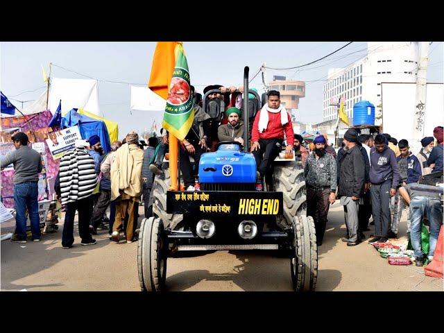 インドで大トラクターデモ 農民たちは同じ姓を名乗った