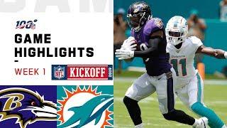 Ravens vs. Dolphins Week 1 Highlights | NFL 2019