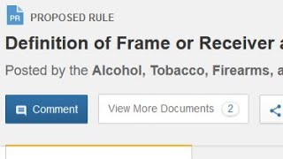 Reading the Proposed ATF Changes to Firearm Definitions - No Commentary