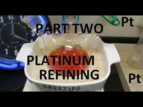 Platinum Refining Practice Platinum Coin Part 2of2