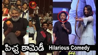 anchor Suma Making Hilarious Comedy With Anushka | HIT Pre Release Event | Filmylooks