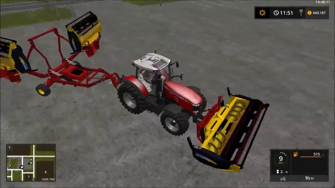 fs 17 canadian national map time lapse 2 1st wheat harvest YouTube