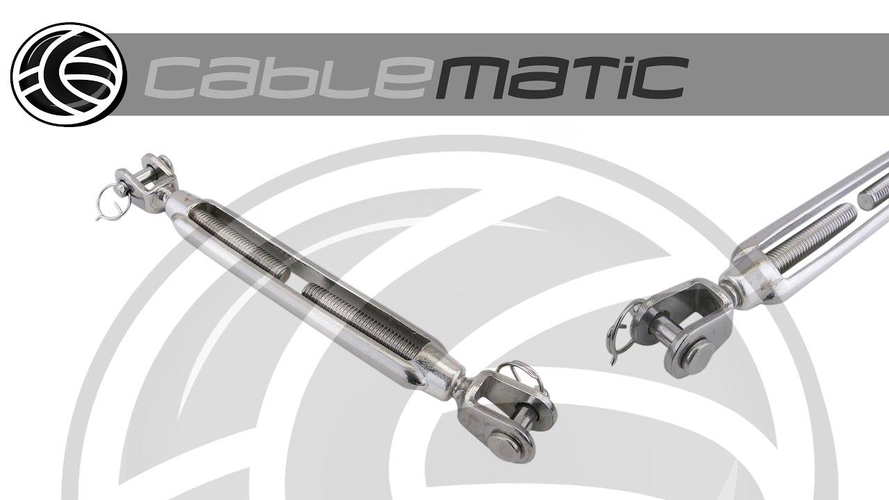 Tensor de cable de acero modelo horquilla a horquilla - Cables de acero ...