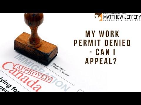 My Work Permit Denied - Can I Appeal?| Matthew Jeffery - Immigration Lawyer Toronto