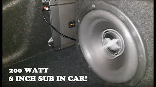 Excursion SHX-8S4 200 WATT subwoofer test in car (Hertz HCP 2 amplifier)