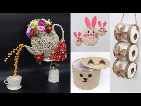 5 Jute craft ideas | Home decorating ideas handmade easy | 2021