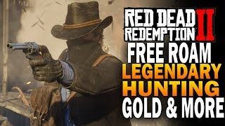 [RDR2] Free Roam Gameplay - Legendary Hunting, Treasure Hunts, Gold & More! Red Dead Redemption 2