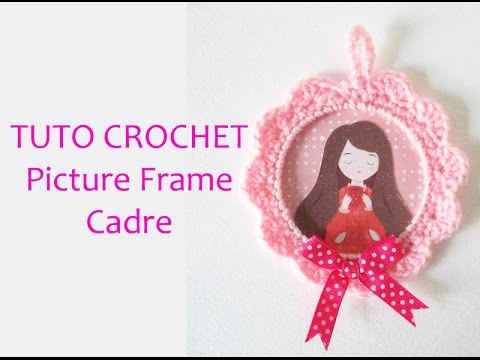 tuto cadre en crochet i crochet tutorial picture frame. Black Bedroom Furniture Sets. Home Design Ideas