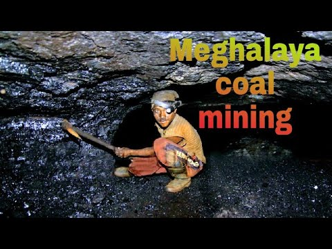 Indian coal mining in meghalaya | fully manual processing mining
