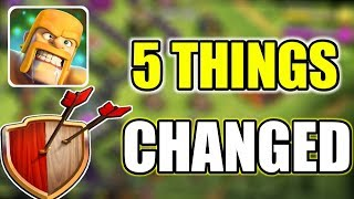 5 THINGS THAT CHANGED IN CLASH OF CLANS