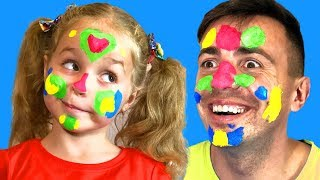 Face Painting - Finger Family from Nadia and Dad - Drawing for kids easy