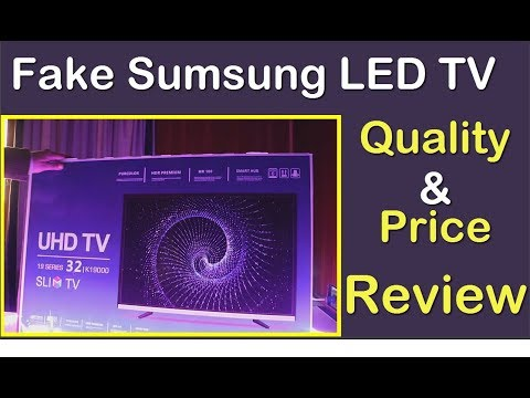 Chines Samsung Replica UHD 4K LED TV Unboxing Review