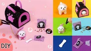 [DIY 6 Miniature puppy & puppy goods] 미니어쳐 멍멍이 & 멍멍이 가방  세트 만들기 !!