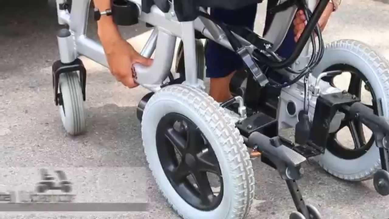 Silla de ruedas el ctrica plegable libercar emblema www - Silla de ruedas de transferencia plegable y portatil ...